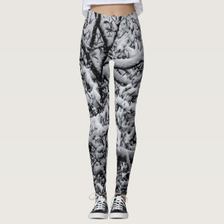 Black and White Snowy Leggings