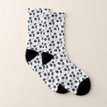 Black and White Soccer Ball Pattern Socks