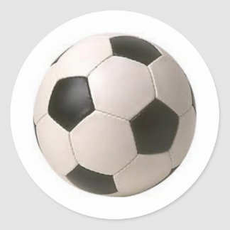 Black and White Soccer Ball Stickers