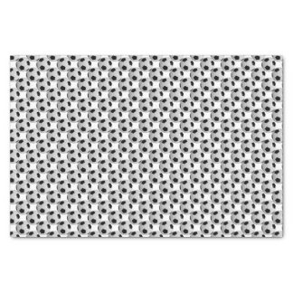 Black and White Soccer Ball Tissue Paper