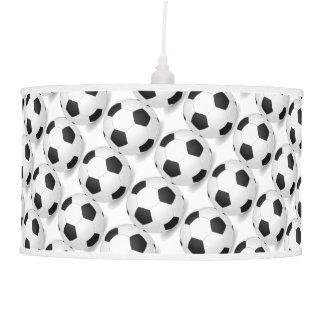 Black and White Soccer Decor Man Cave Modern Ceiling Lamp