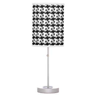 Black and White Soccer Decor Man Cave Modern Lamps