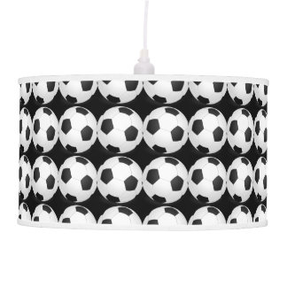 Black and White Soccer Decor Man Cave Modern Ceiling Lamps