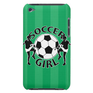Black and white soccer girl design iPod touch Case-Mate case
