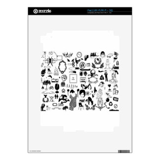 Black and white social icons design decals for the iPad 2