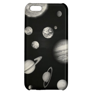 Black and White Solar System in the space iPhone 5C Cover