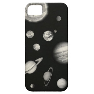 Black and White Solar System in the space iPhone SE/5/5s Case