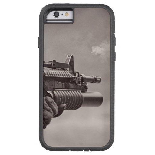 Black and White Soldier Sub Machine Gun Masculine iPhone 6 Case