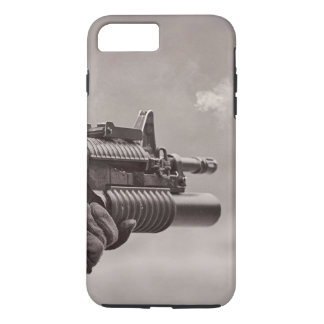 Black and White Soldier Sub Machine Gun Masculine iPhone 8 Plus/7 Plus Case