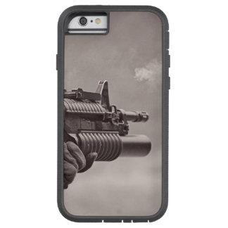 Black and White Soldier Sub Machine Gun Masculine Tough Xtreme iPhone 6 Case
