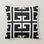 Black and White Spanish Tile Pillows