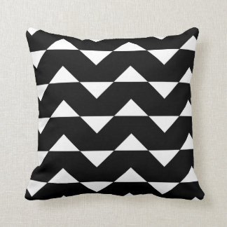 Black and White Sparre Pattern Throw Pillow