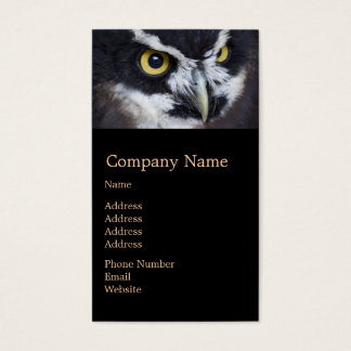 Black and White Specacled Owl Business Card