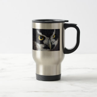 Black and White Specacled Owl Coffee Mug