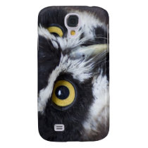 Black and White Specacled Owl Galaxy S4 Case