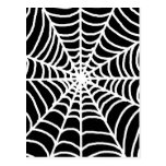 Black and white spider web postcard