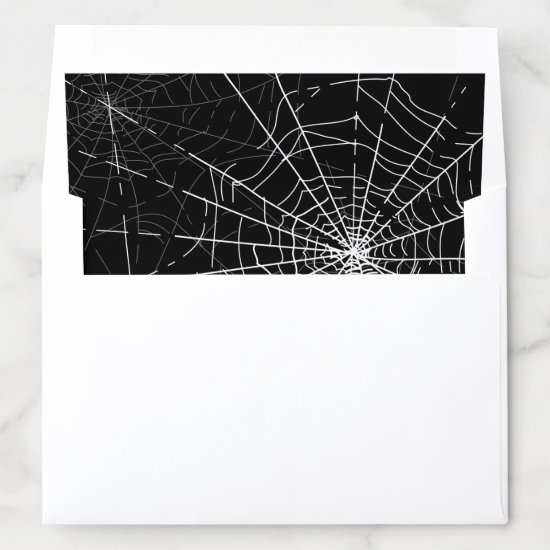 Black and White Spider Webs Halloween Envelope Liner