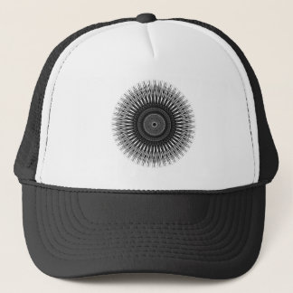 Black and White Spiral Art Trucker Hat