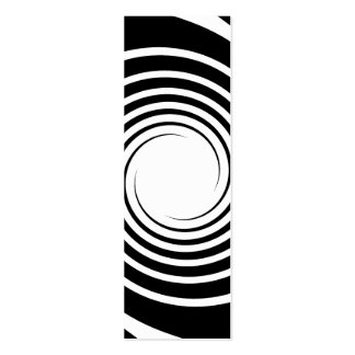 Black and White Spiral Design. Double-Sided Mini Business Cards (Pack Of 20)