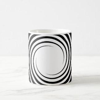 Black and White Spiral Design. Mug
