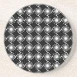 Black and White Spirals Pattern. Beverage Coasters
