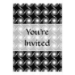 Black and White Spirals Pattern. Personalized Invitation