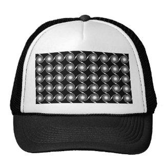 Black and White Spirals Pattern. Trucker Hat