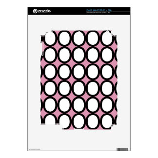 Black and White Splash of O's With Pink iPad 2 Decal