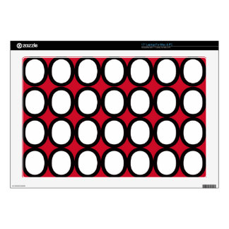 Black and White Splash of O's With Red Decal For Laptop