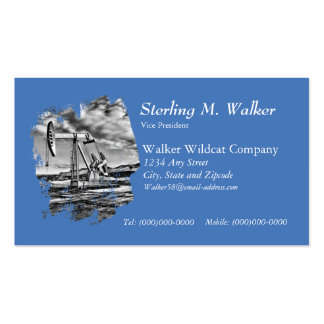 Black and White (Splash) Oilwell Pumping Unit Business Card