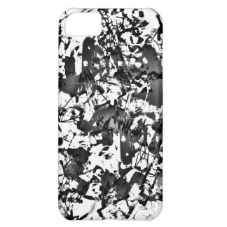 Black and White Splatter Cover For iPhone 5C