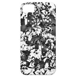 Black and White Splatter iPhone 5 Covers