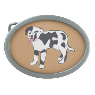 Black and White Spotted Dog Belt Buckles