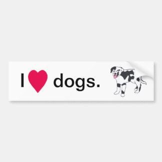 Black and White Spotted Dog Bumper Stickers