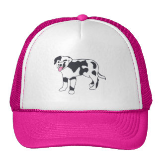 Black and White Spotted Dog Hats