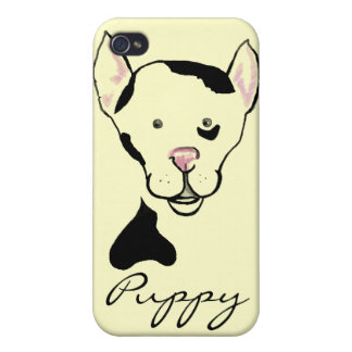 Black and White Spotted Dog iphone Case Covers For iPhone 4