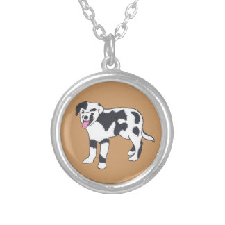Black and White Spotted Dog Necklaces