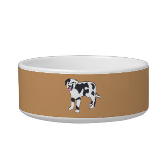 Black and White Spotted Dog Pet Bowls