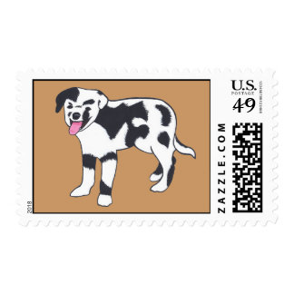 Black and White Spotted Dog Stamps