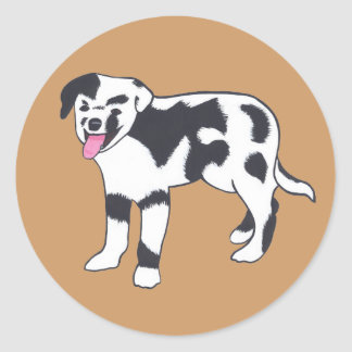 Black and White Spotted Dog Stickers