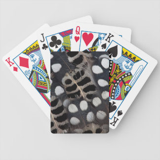Black And White Spotted Feathers Bicycle Playing Cards
