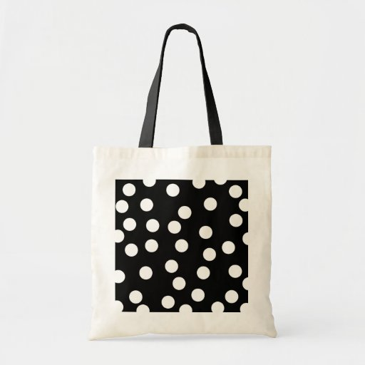 Black and White Spotty Design. Canvas Bag