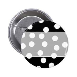 Black and White Spotty Design. Buttons