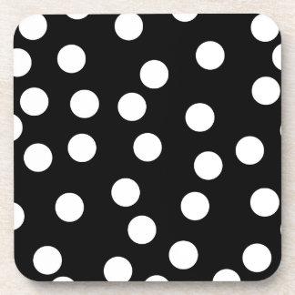 Black and White Spotty Design. Drink Coaster