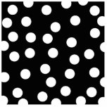Black and White Spotty Design. Cut Out