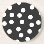 Black and White Spotty Design. Drink Coaster