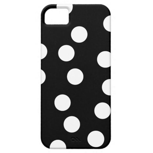 Black and White Spotty Design. iPhone 5 Cases