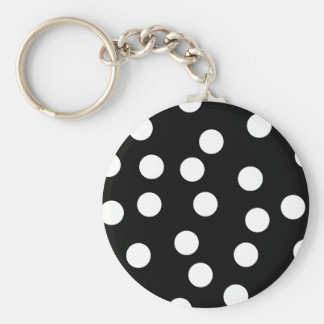 Black and White Spotty Design. Keychain
