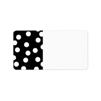 Black and White Spotty Design. Personalized Address Labels