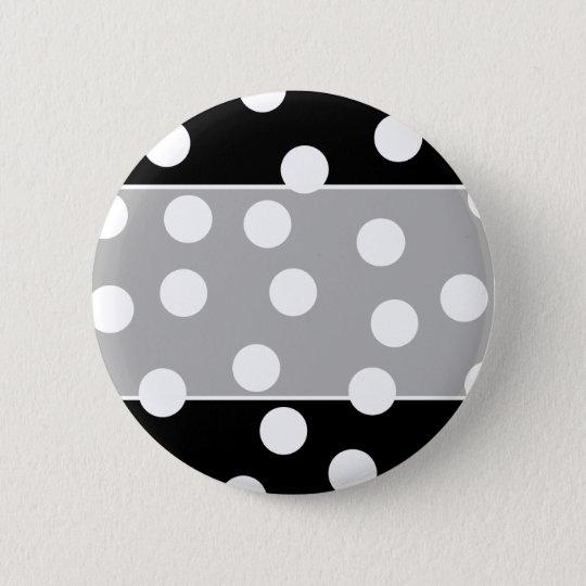Black and White Spotty Design. Pinback Button